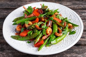 Sauteed Vegetables with Shrimp
