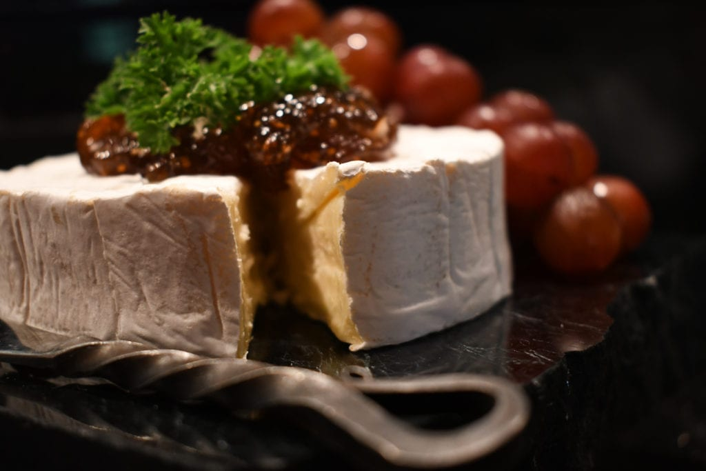 Brie with fig jam